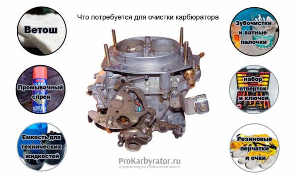 Как почистить карбюратор ВАЗ 2109
