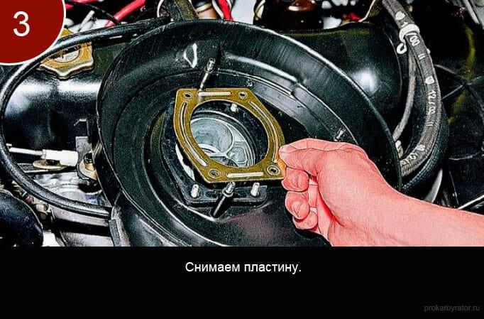 Как снять карбюратор с автомобиля ваз 2107 - шаг 3