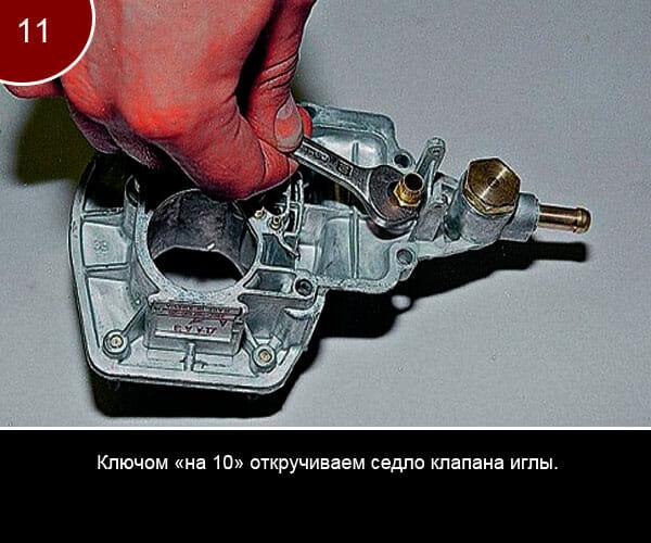 Фото инструкция по ремонту карбюратора на ваз 2107 - 11