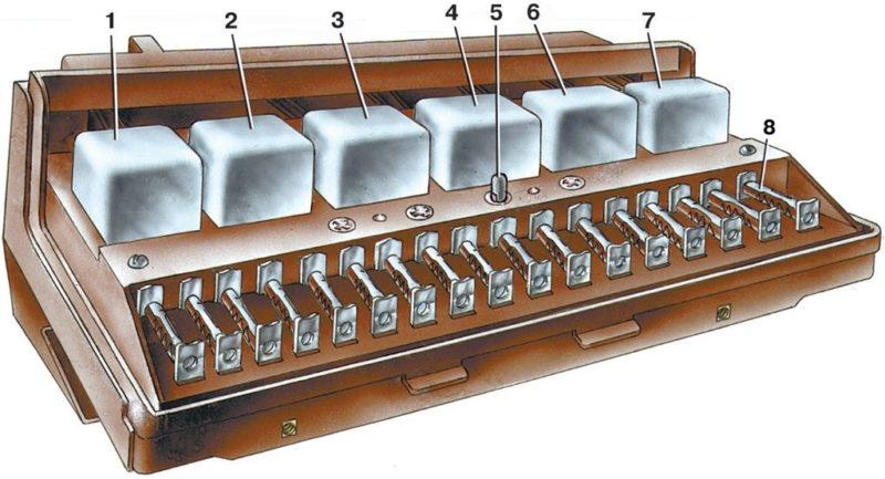 Схема блока предохранителей на ваз 2107 карбюратор