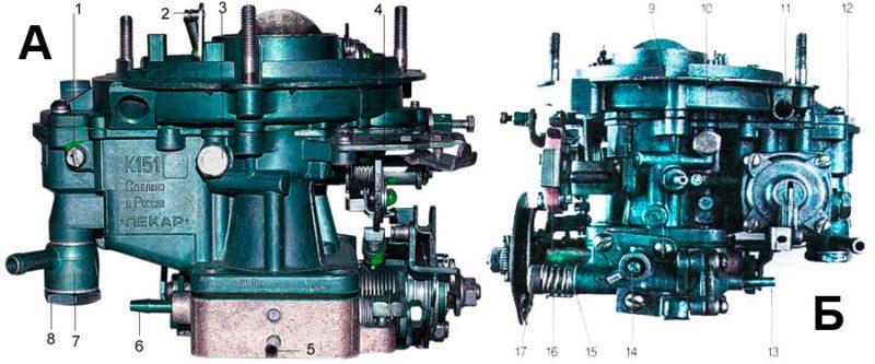 Устройство карбюратора К-151